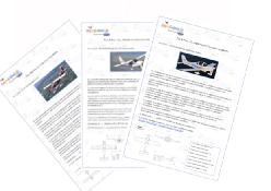 miniatura brochure aeroplani utilizzati per le esperienze di volo
